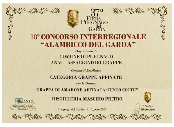 100 COTTE – Grappa di Amarone affinata